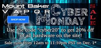 best vape hardware black friday deals cyber monday comes to mt baker vapor now that you u0027re stocked up