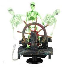 2016 new action air skeleton captain aquarium decoration ornament