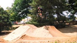 idiot kid crashes bmx bike at mtb dirt jumps youtube
