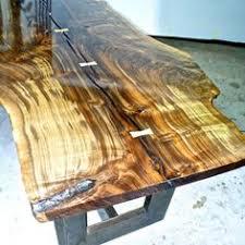 Slab Table Etsy by Claro Walnut Tree Slab Table By Rusticalchemy On Etsy Dining