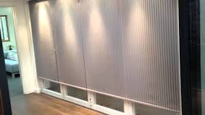 electric bifold door blinds fabric youtube