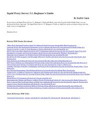 squid proxy server 3 1 beginner s guide nf1d computer network