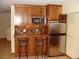 Stone Backsplash In Kitchen by Kitchen Small Basement Kitchen Finishing Ideas Using Wooden
