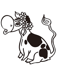 pretty cow sitting coloring page h u0026 m coloring pages