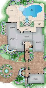 coastal mediterranean house plan 75984 lower level floorplans