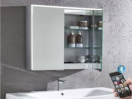 compose illuminated bluetooth bathroom mirror cabinet roper