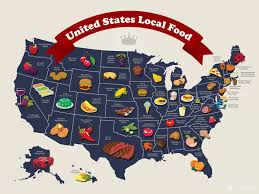 World Map Of The United States by Ltpyl United States Local Food Map Infographic Geography