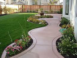 Landscaped Backyard Ideas Simple Backyard Landscape Design Photo Of Well Simple Backyard