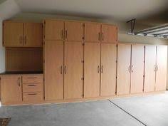 Wooden Garage Storage Cabinets Plans by Garage Cabinets Plans Solutions Garage Pinterest Garage