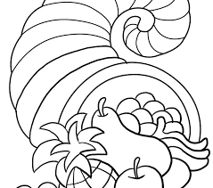 cornucopia coloring page best coloring pages adresebitkisel
