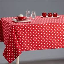 white polka dot 100 cotton table cloth cover napkins