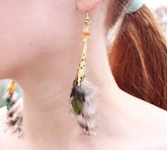 how to make feather earrings with diy feather earrings michele