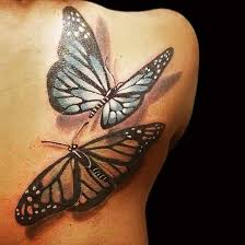 beautiful butterfly wings tattoos on back photos pictures and