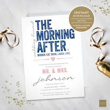 morning after wedding brunch invitations the morning after wedding brunch invitation instant