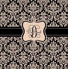 damask tan and black monogrammed shower curtain custom