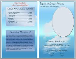 funeral program templates program phlet template city espora co