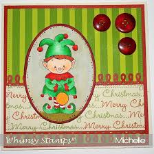 christmas elf whimsy stamps
