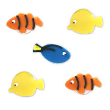 fish cake toppers edible tropical fish cake toppers the cake decorating store