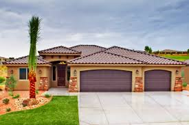 Garage Style Homes Decor Luxury Tuscan Style Homes With Ceramic Tile Patio And Palm
