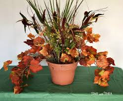 how to make floral arrangements how to make a fall floral outdoor arrangement time with thea