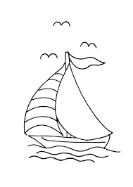 coloring pages boats and sailboats 5 easypin vintage embroidery