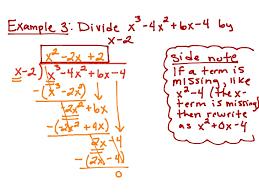 showme 6 3 dividing polynomials using long division