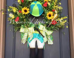 Kentucky Derby Decorations Kentucky Derby Wreath Jockey Wreath Derby Decorations Run For
