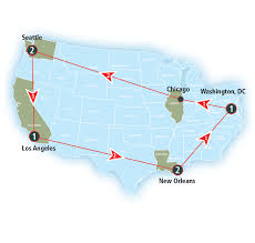 Chicago On A Map by Rail Experiences Amtrak Vacations