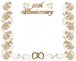 50 year wedding anniversary wedding anniversary invitation 50 years stock photo irisangel