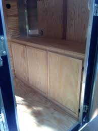 V Nose Enclosed Trailer Cabinets by Custom Cabinets I Built To Fit The Front Of My 7x16 Cargo Trailer