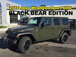 wrangler jeep 4 door black 2016 jeep wrangler black bear edition john jones corydon in