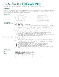 sales resume templates retail sales description for resume
