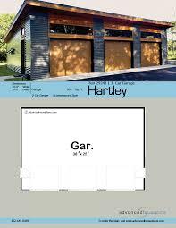 modern style garage plan hartley