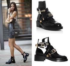 female motorcycle boots aliexpress com buy 2017 cutout buckle boot black genuine leather