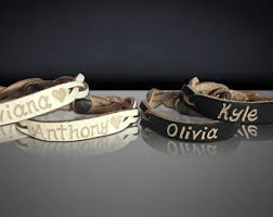 His And Hers Engraved Bracelets Leather Engraved Bracelet Personalized Custom Leather