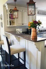 White Cabinets Brown Granite by New Paint In Our Kitchen Copper Accents French Country Kitchens