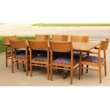 conant ball oak dining table and 8 chairs chairish
