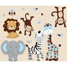 jungle safari stickers with zebra decals for boys rooms blue jungle safari stickers with zebra decals for boys rooms