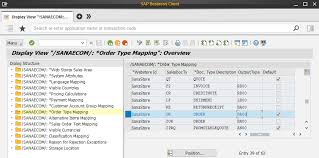 sap document types table order type mapping