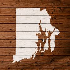Rhode Island On Map Map Of Rhode Island State Outline White Distressed Paint On
