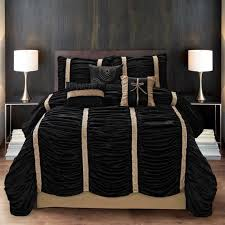 gold iron bed white wooden wall grey ceramic floor brown wooden