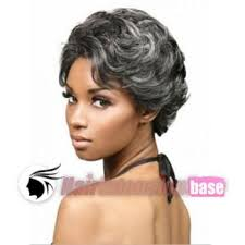 gray hair pieces for american inch wavy short african american hair wigs grey black