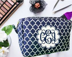 monogrammable items monogrammed makeup bag etsy