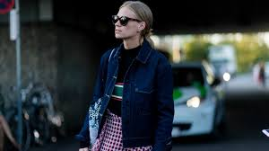 ways to wear short scarf for a more fashionable look 30 ways to wear your denim jacket this fall stylecaster