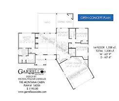 Open Cabin Floor Plans Montana Cabin House Plans By Garrell Associates Inc