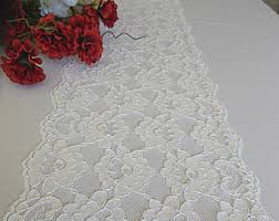 ivory lace table runner white lace etsy