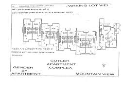 Floor Plan Of An Apartment Cutler Department Of Residence Life
