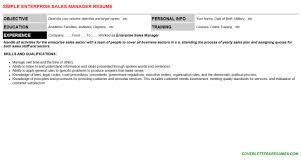 enterprise sales manager cover letter u0026 resume