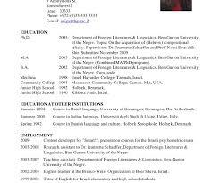 Examples Of Academic Resumes by Download Academic Resume Examples Haadyaooverbayresort Com