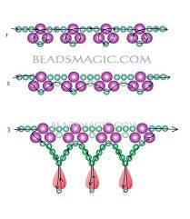 bead necklace patterns images 1303 best gely images beaded jewellery necklaces jpg